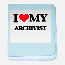 I love my Archivist baby blanket