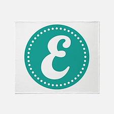 Letter E Throw Blanket