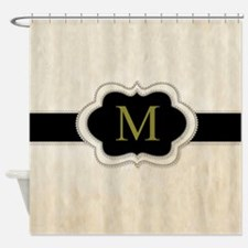 Monogram Design By Leslie Harlow Shower Curtain