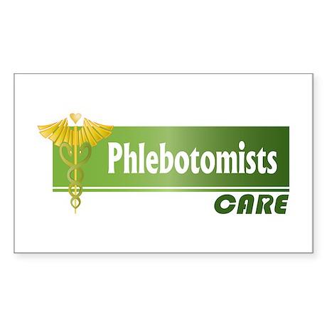 Phlebotomists Care Rectangle Sticker