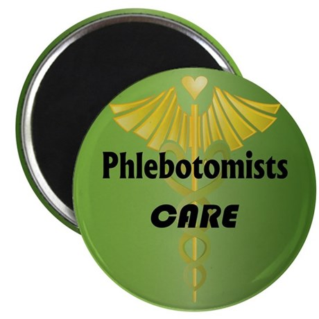 "Phlebotomists Care 2.25"" Magnet (10 pack)"