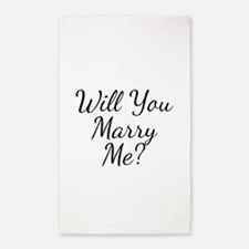 Will You Marry Me? 3'x5' Area Rug