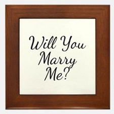 Will You Marry Me? Framed Tile