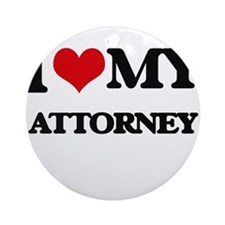 I love my Attorney Ornament (Round)