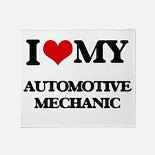 I love my Automotive Mechanic Throw Blanket