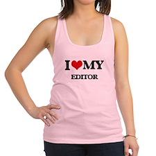 I love my Editor Racerback Tank Top