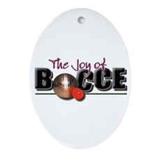 Holiday Tree Bocce Oval Ornament