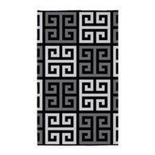 Greek Key Stylish Gray 3'x5' Area Rug