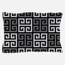 Greek Key Stylish Gray Pillow Case