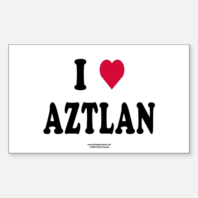 I Love Aztlan Rectangle Decal