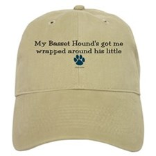 Wrapped Around His Paw (Basset Hound) Baseball Cap