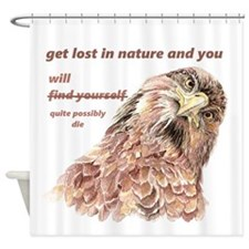 Fun Nature Humor Quote Silly Bird art Shower Curta