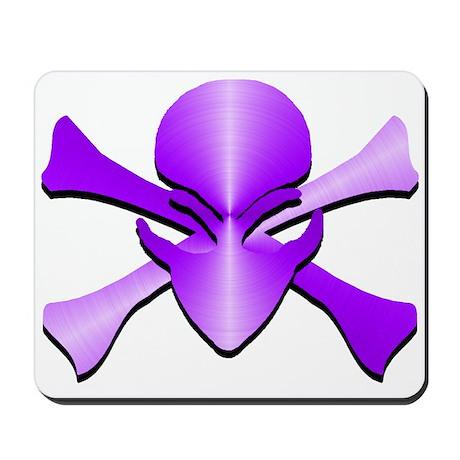 Metal Skull N Crossbones Purple Mousepad