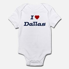 I HEART DALLAS Infant Bodysuit