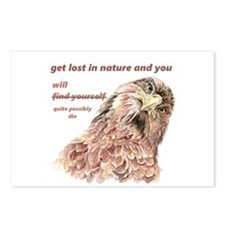Fun Nature Humor Quote Silly Bird art Postcards (P