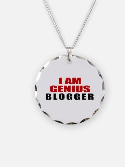 I Am Genius Blogger Necklace