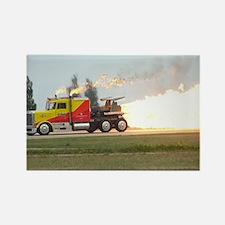 Shockwave Jet Truck Rectangle Magnet
