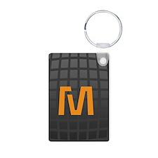 Cool High Tech Monogram Pattern Keychains