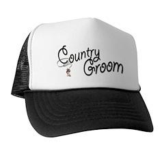Cowboy Groom Trucker Hat
