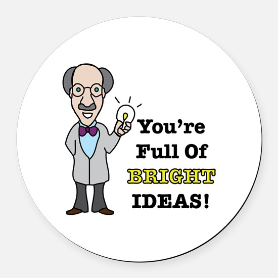 Bright Ideas Round Car Magnet