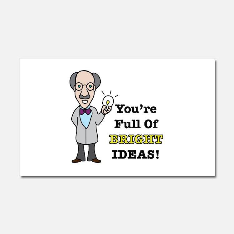 Bright Ideas Car Magnet 20 x 12