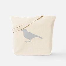 Grey Robin Tote Bag