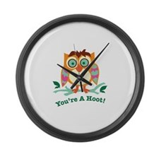 Youre A Hoot Large Wall Clock