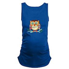 Hoot Owl Maternity Tank Top