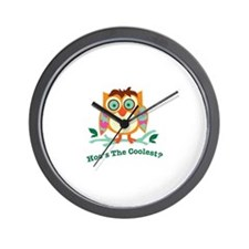 Hoos The Coolest Wall Clock