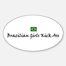 Brazilian Girls Oval Decal