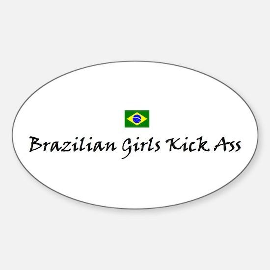 Brazilian Girls Oval Decal