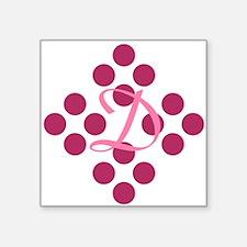 "Pretty Pink Polka Dots Square Sticker 3"" x 3"""