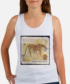 Russian Tiger Stamp Tank Top