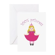 100% Princess Greeting Cards