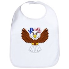 Cute Eagle Girl Bib