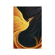 Phoenix Rising Rectangle Magnet
