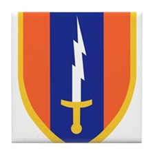 1st Signal Brigade Insignia.png Tile Coaster