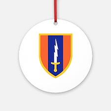 1st Signal Brigade Insignia.png Ornament (Round)