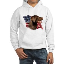 Chocolate Lab Flag Hoodie