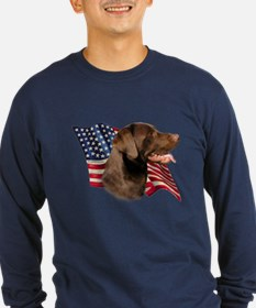 Chocolate Lab Flag T