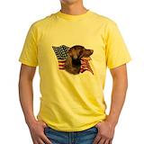 Chocolate lab Mens Yellow T-shirts