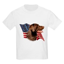 Chocolate Lab Flag T-Shirt