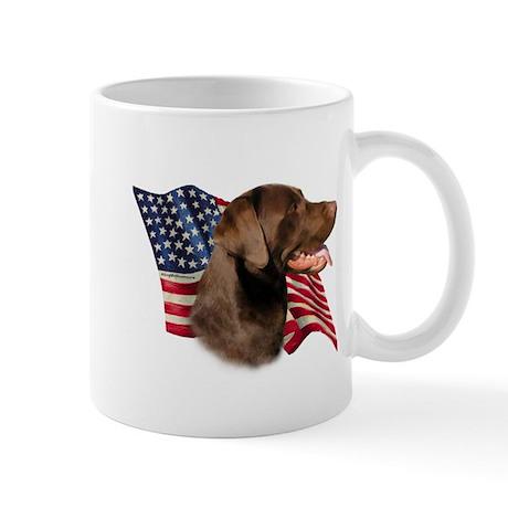 Chocolate Lab Flag Mug