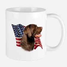 Chocolate Lab Flag Mug