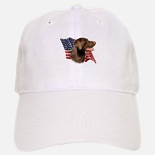 Chocolate Lab Flag Baseball Baseball Cap