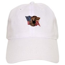 Chocolate Lab Flag Cap