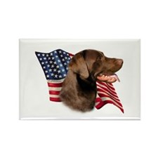 Chocolate Lab Flag Rectangle Magnet