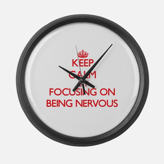 Being Nervous Large Wall Clock