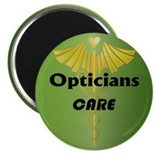 """Opticians Care 2.25"""" Magnet (10 pack)"""
