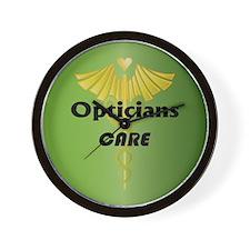 Opticians Care Wall Clock